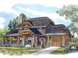 Craftsman Log Home Plans Country Craftsman Log House Plan 43213