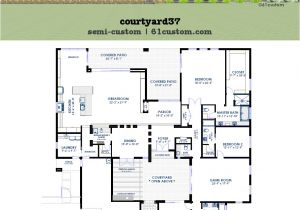 Custom Modern Home Plans Modern Courtyard House Plan 61custom Contemporary