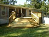 Deck Plans Mobile Homes Covered Wood Deck On Mobile Home Joy Studio Design