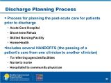 Discharge Planning From Hospital to Home Mapping Your Discharge Process and Handoffs Ppt Video