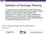 Discharge Planning From Hospital to Home Nhs Providing the Right Care at the Right Time In the Right