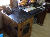 Diy Computer Desk Plans Home Diy Wooden Computer Desk Quick Woodworking Projects
