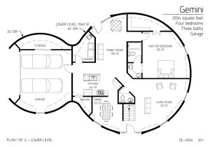 Dome Homes Floor Plans Two Floor Round Home with Garage Alternative Homes