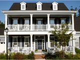 Double Front Porch House Plans the Owens Model at Old Davidson Traditional Exterior