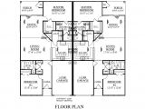 Duplex Home Design Plans One Level Duplex Craftsman Style Floor Plans Duplex Plan