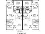 Duplex Home Floor Plans One Level Duplex Craftsman Style Floor Plans Duplex Plan