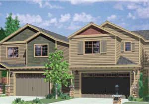 Duplex Home Plans with Garage Corner Duplex House Plans Duplex House Plans