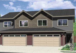 Duplex Home Plans with Garage Duplex House Plans Duplex House Plan with 2 Car Garage D