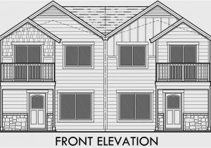 Duplex Home Plans with Garage Duplex House Plans House Plans with Rear Garages D 568