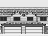Duplex Home Plans with Garage Duplex House Plans with 2 Car Garage