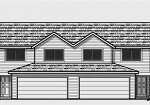 Duplex Home Plans with Garage Duplex House Plans with 2 Car Garage