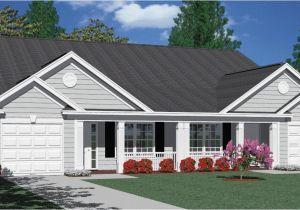 Duplex Home Plans with Garage Houseplans Biz Duplex House Plans Page 1