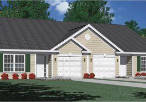 Duplex Home Plans with Garage Houseplans Biz House Plan D1261 B Duplex 1261 B