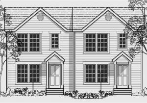Duplex Home Plans with Garage Narrow Lot Duplex House Plans Narrow and Zero Lot Line