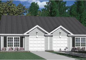 Duplex Home Plans with Garage southern Heritage Home Designs Duplex Plan 1196 B