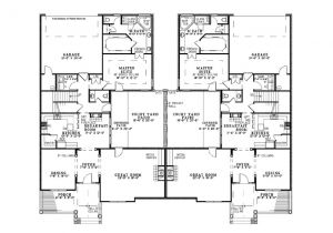 Duplex House Plans 3 Bedrooms Eplans Traditional House Plan Three Bedroom Duplex House