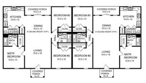 Duplex House Plans 3 Bedrooms Three Bedroom Duplex 7085 3 Bedrooms and 2 5 Baths the
