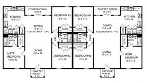 Duplex House Plans 3 Bedrooms Three Bedroom Duplex 7085 3 Bedrooms and 2 5 Baths the