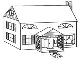 Easy House Plans to Draw Simple House Coloring Pages