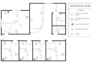 Electrical Symbols for House Plans Sample Office Electrical Plan Parra Electric Inc