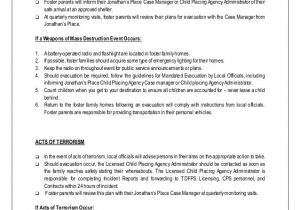 Emergency Disaster Plan For Family Child Care Homes Child Care