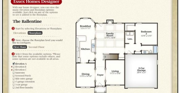 Essex Homes Floor Plans the Ballentine First Floor Check Out the Interactive