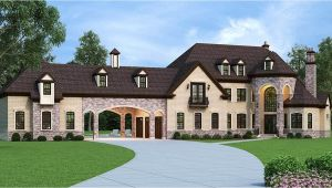 European Estate House Plans European Estate Home with Porte Cochere 12307jl