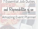 Event Planning Jobs From Home event Planning Job Description and Responsibilities