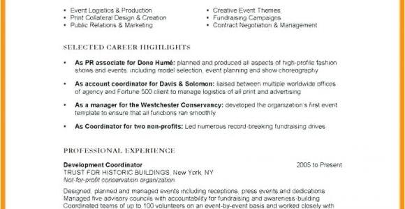 Event Planning Jobs From Home Non Profit event Coordinator Job Description