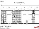 Excel Modular Homes Floor Plans Excel Es1680 254 by Brothers 3 Manufactured Homes