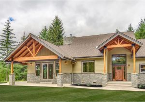 Exterior Home Plans Sticks and Struts Craftsman Ranch 72815da