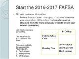 Fafsa Housing Plans Off Campus Financial Aid Workshop Presentation 2016
