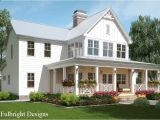 Farm House Home Plans 2 Story House Plan with Covered Front Porch