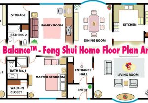 Feng Shui Home Plans Simple Balance Feng Shui Home Floor Plan Analysis