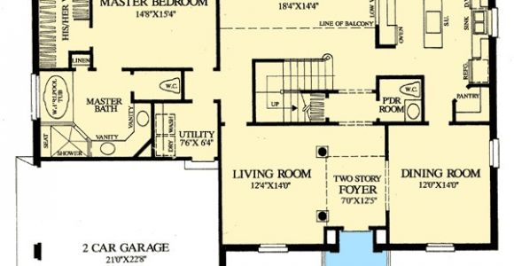 First Floor Master Home Plan Colonial Home with First Floor Master 32547wp