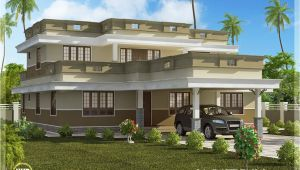 Flat Roof Home Plans Flat Roof Home Design with 4 Bedroom Kerala Home Design
