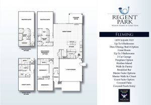 Fleming Homes Floor Plans Wilson Homes Regent Park Loma Vista