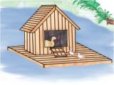 Floating Duck House Plans Instructions How to Build A Floating Duck House total Survival