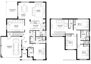 Floating Home Plans 2 Floor House Plans and This 5 Bedroom Floor Plans 2 Story