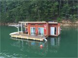 Floating Home Plans A Small Off Grid Floating Home On Fontana Lake In Almond