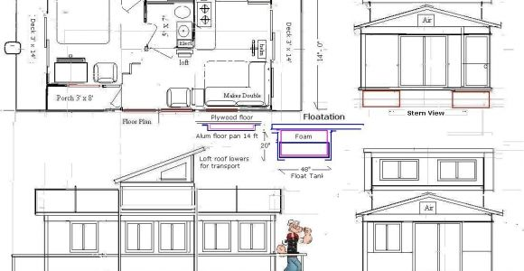 Floating Home Plans One Ugly Boat