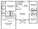 Floor Plan Home 3 Bedrm 1400 Sq Ft Country House Plan 141 1152