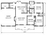 Floor Plans for 0 Sq Ft Homes 1300 Square Foot House Plans 1300 Sq Ft House with Porch