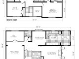 Floor Plans for 2 Story Homes Small Two Story Cabin Floor Plans with House Under 1000 Sq