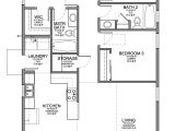 Floor Plans for 3 Bedroom Homes Floor Plan for A Small House 1 150 Sf with 3 Bedrooms and