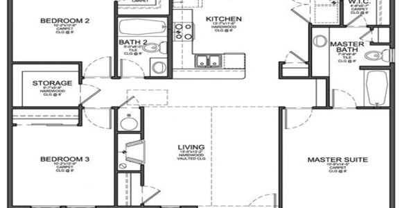 Floor Plans for 3 Bedroom Homes Small 3 Bedroom Floor Plans Small 3 Bedroom House Floor