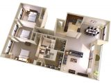 Floor Plans for 3 Bedroom Homes Three Bedroom Two Bath Apartments In Bethesda Md topaz