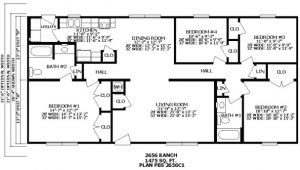 Floor Plans for 3 Bedroom Ranch Homes 2 Bedroom Ranch House Plans Bedroom at Real Estate