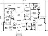 Floor Plans for 5 Bedroom Homes One Story Five Bedroom Home Plans Home Plans Homepw72132