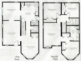 Floor Plans for A 4 Bedroom 2 Bath House 4 Bedroom 2 Story House Plans 2 Story Master Bedroom Two